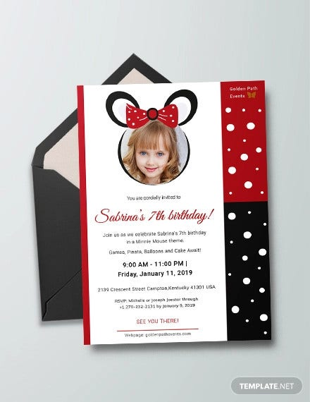 minnie mouse invitation template1