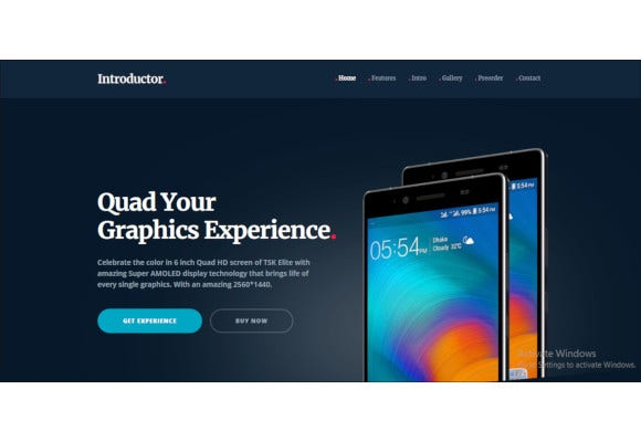 mobile phone introductory html5 templates