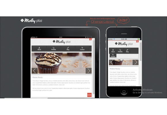 mobile and tablet html5 template