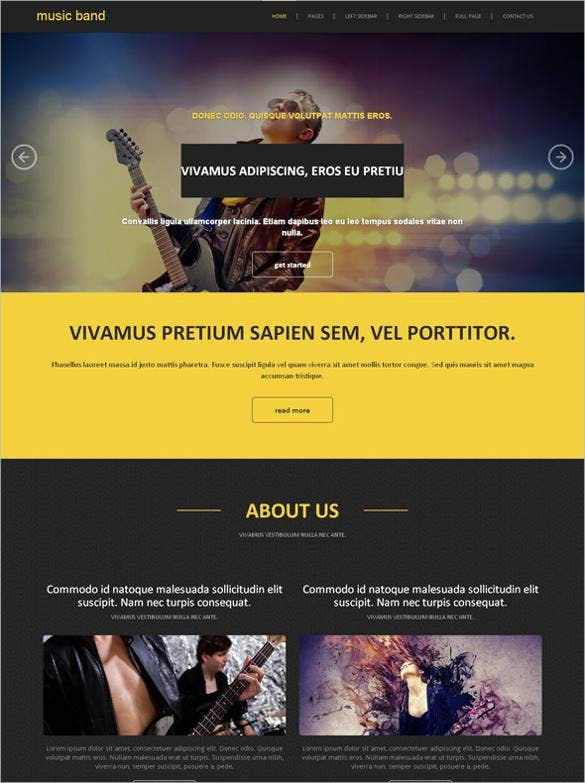 music-band-website-template