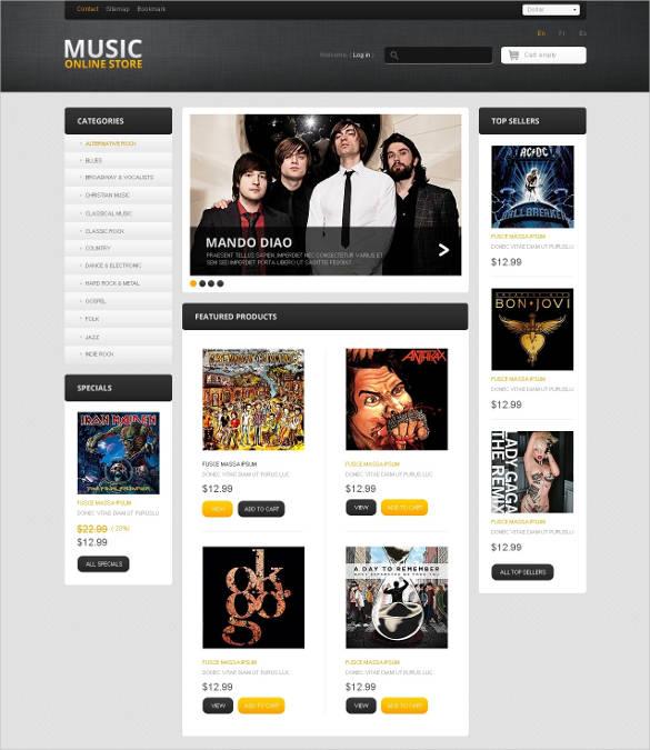 music online store prestashop theme