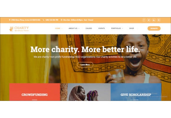 nonprofit charity wordpress theme