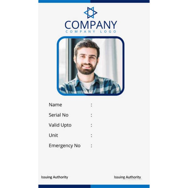 40+ Blank ID Card Templates - PSD, Ai, Vector EPS, DOC ...
