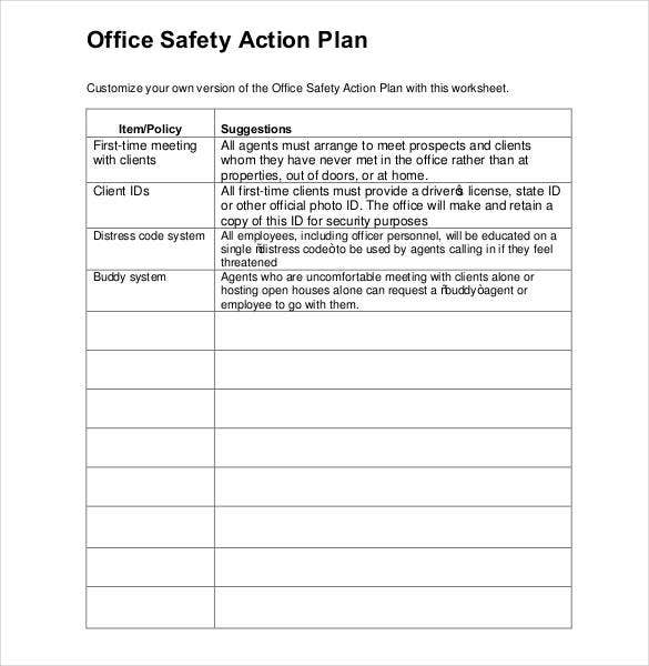 office-safety-action-plan