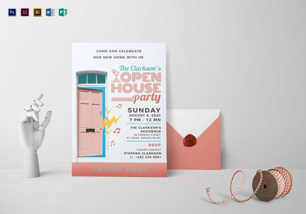Open House Invitation Templates Free Sample Example Format - Open house invitation template