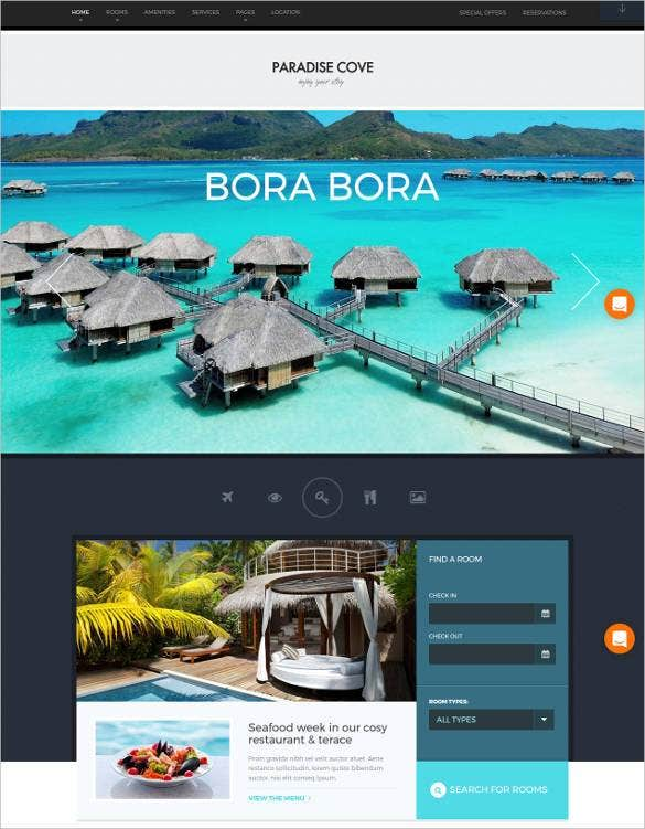 paradise cove hotel bootstrap template11