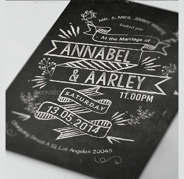 party chalkboard invitation
