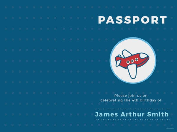 16  passport invitation templates