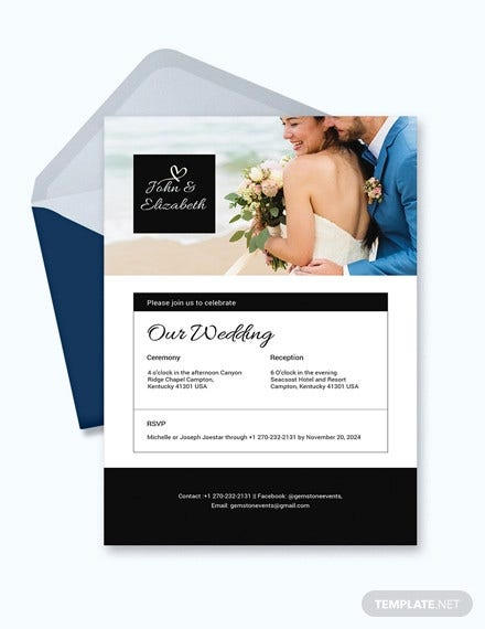 photo wedding invitation email template