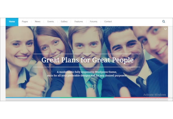 political campaign party blog responsive wordpress theme