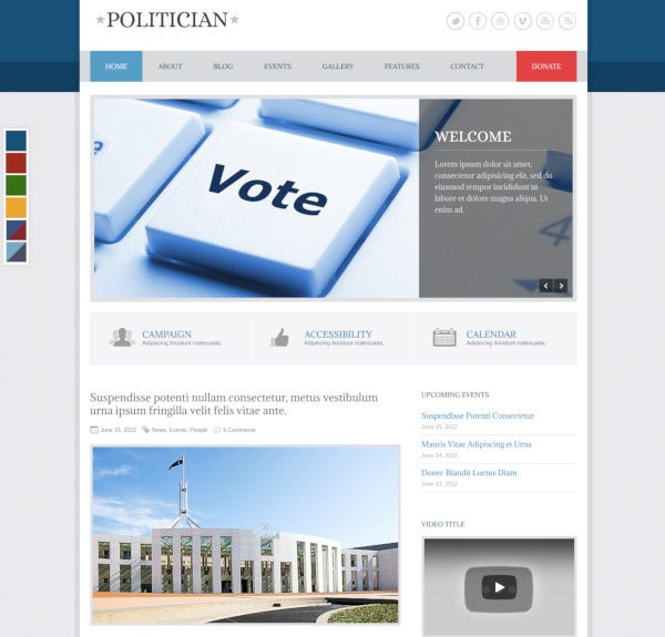 politician-responsive-html5-template