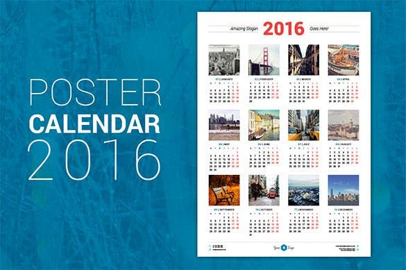 premium poster calendar 2016 eps format download1