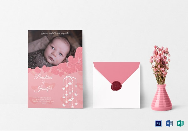 Christening Baptism Invitation Card Template In Word