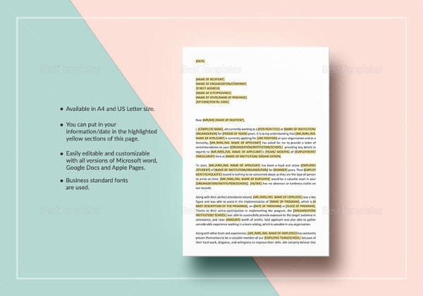 professional-letter-of-reference-template