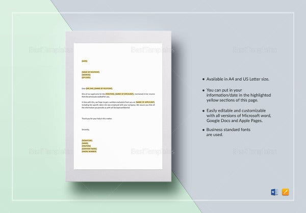 professional-request-for-employment-reference-template