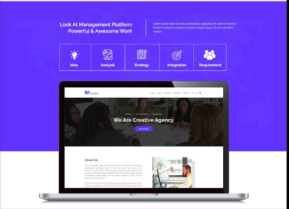 rdesign digital creative agency psd template