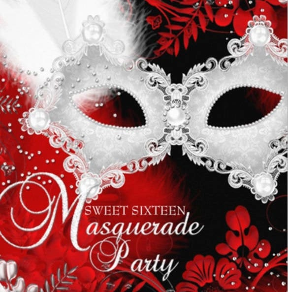 red white sparkle mask masquerade
