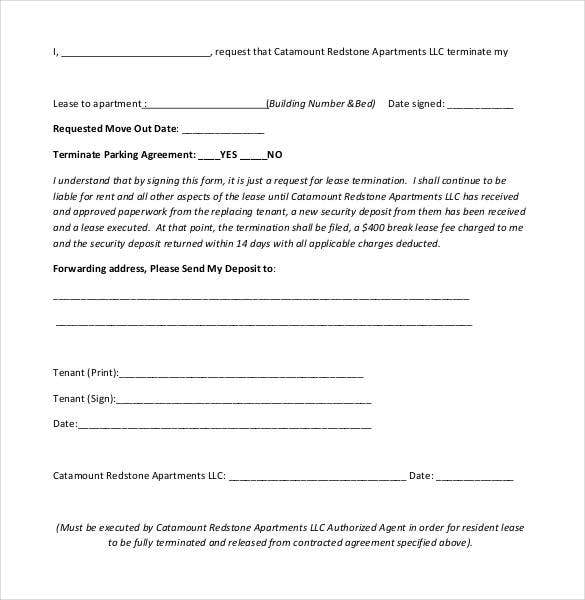 19 Elegant Breaking A Lease Agreement Letter Sample