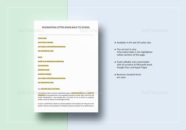 resignation-letter-going-back-to-school-template