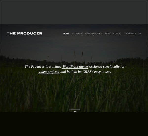 responsive film studio wp theme
