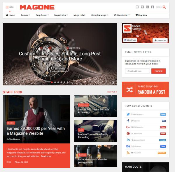 responsive news magazine blogger template