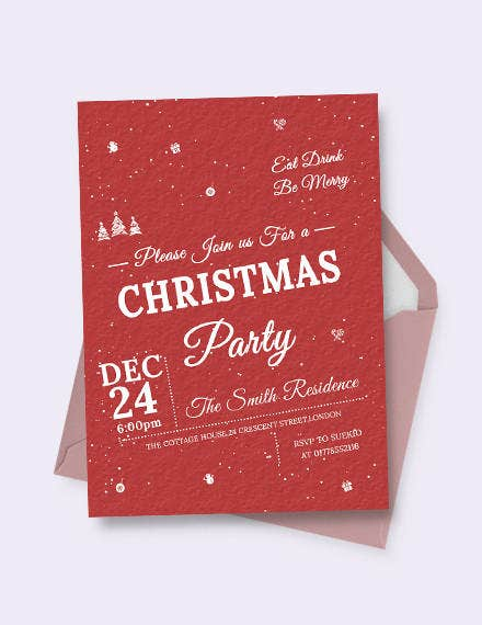 retro christmas invitation template