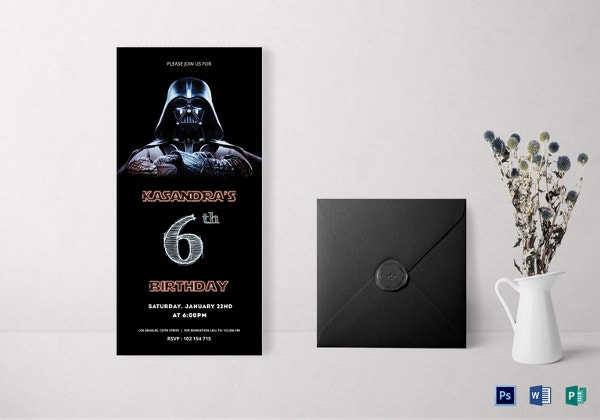 Free Star Wars Birthday Invitation Templates ~ Star wars birthday invitation template u free sample example