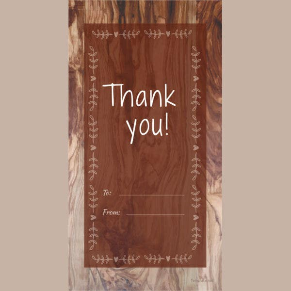 Rustic Thank You Tag Template