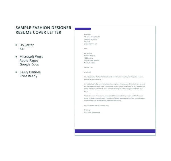Simple Cover Letter Template - 50+ Free Sample, Example, Format ...