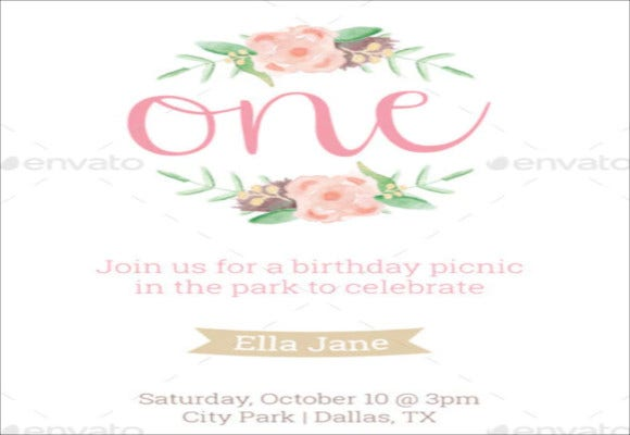 sample first birthday invitation template