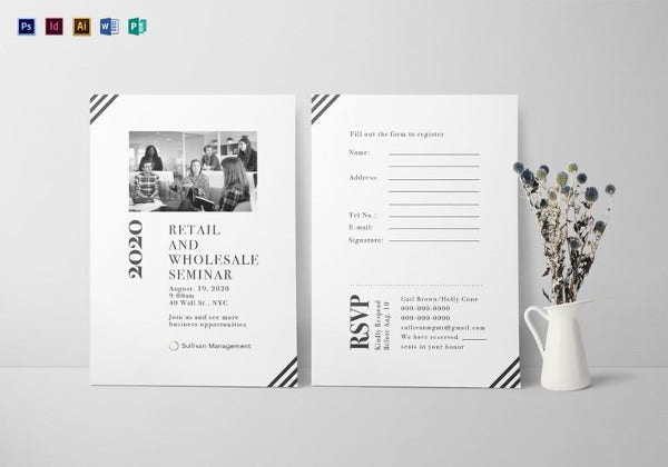 Seminar Invitation Card Template