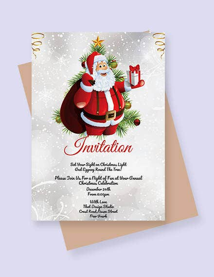Simple Christmas Invitation Template