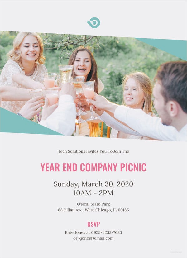 simple company picnic invitation template