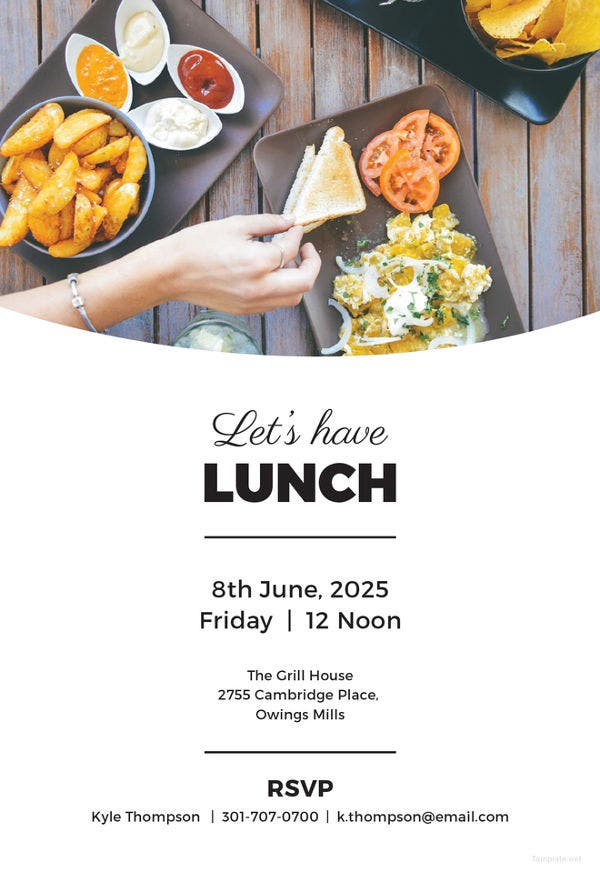simple lunch invitation template