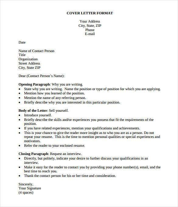 Marvelous Simple Resume Cover Letter