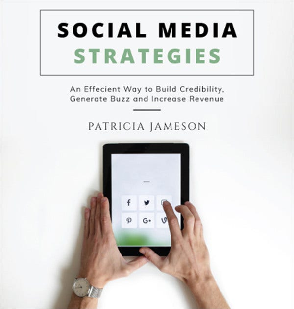 social media book cover template in illustrator