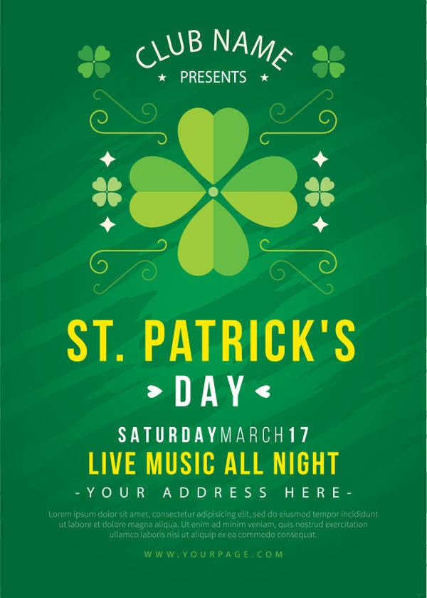 st patricks day invitation template