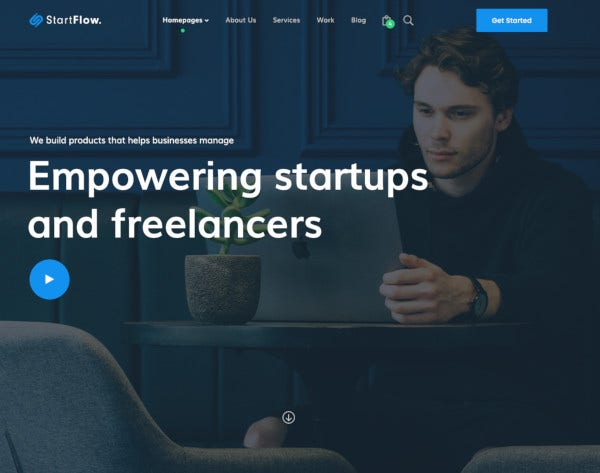startup and creative multipurpose psd template