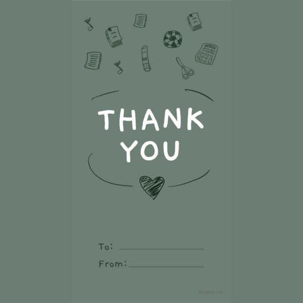 Teacher Thank You Tag