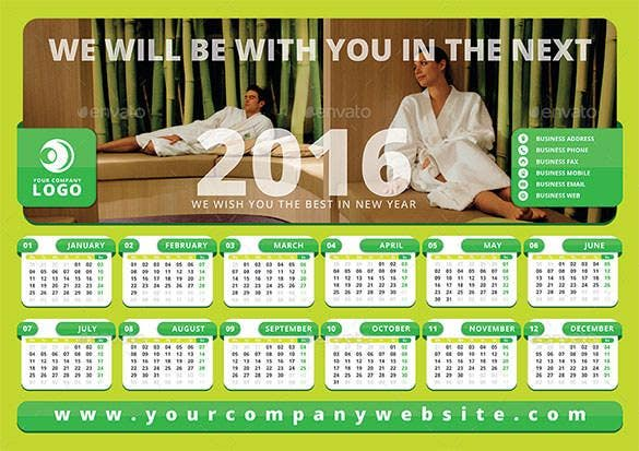 2016 Calendar Template 46 Free Word Pdf Psd Eps Ai