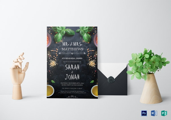 wedding dinner invitation template