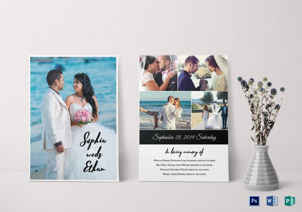 wedding photography invitation template1