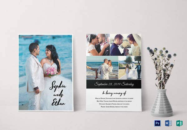 wedding photography invitation template2