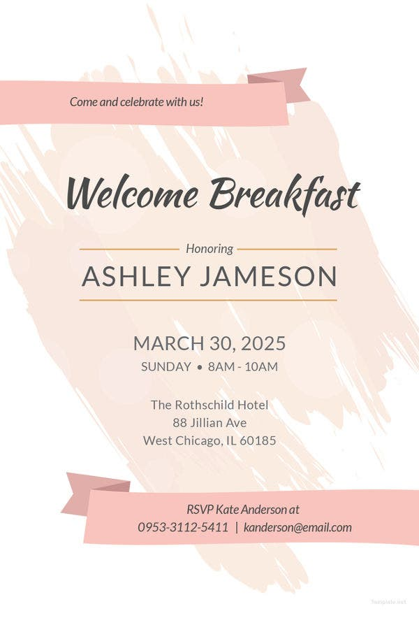 welcome breakfast invitation template1