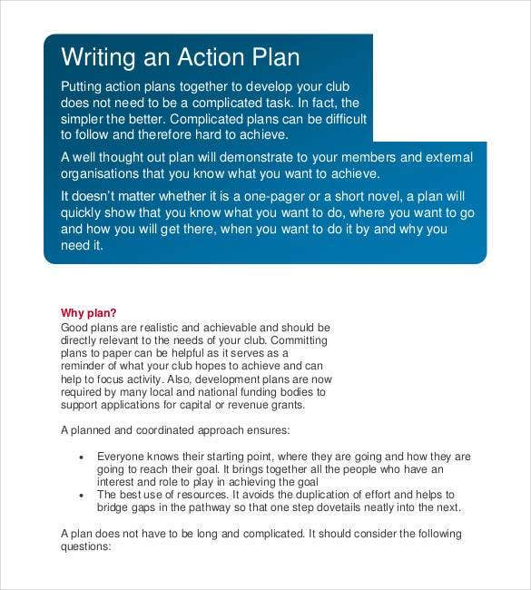 78+ Action Plan Templates - Word, Excel, PDF | Free & Premium Templates
