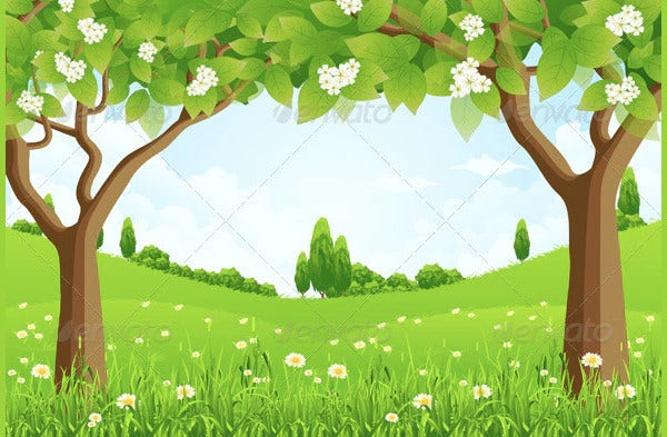 trees green background1