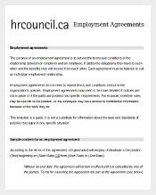 Agreements To Employee Contract