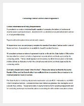 Consulting Contract & Letter of Agreement Template