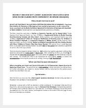 Dependent Settlement Agreement Template