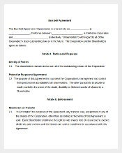 buy sell agreements templates - agreement template 434 free word pdf documents